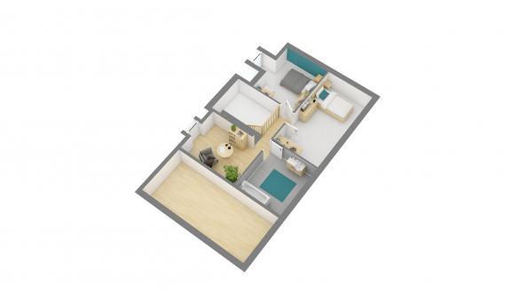 Maison+Terrain à vendre .(93 m²)(ETAIMPUIS) avec (HABITAT CONCEPT BOOS)