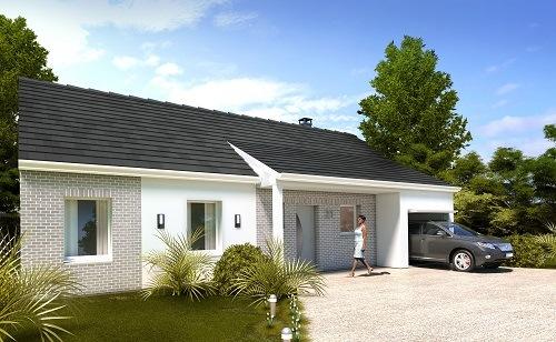 Maison+Terrain à vendre .(88 m²)(FRESNE L'ARCHEVEQUE) avec (HABITAT CONCEPT BOOS)