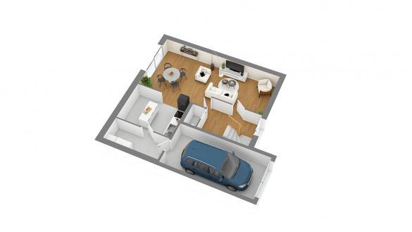 Maison+Terrain à vendre .(85 m²)(SAINT JEAN DU CARDONNAY) avec (HABITAT CONCEPT BOOS)