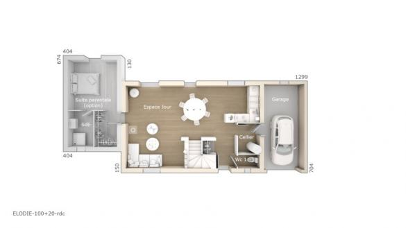 Maison+Terrain à vendre .(100 m²)(CASTELNAUDARY) avec (LES MAISONS DE MANON)