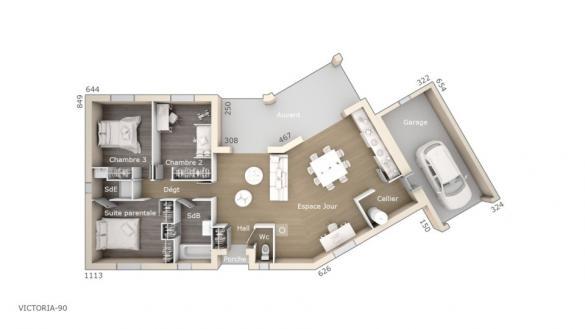 Maison+Terrain à vendre .(90 m²)(BRAM) avec (LES MAISONS DE MANON)