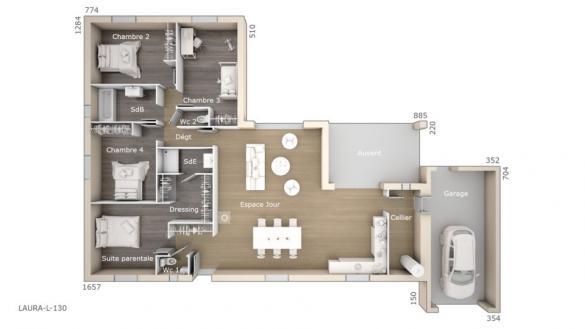 Maison+Terrain à vendre .(130 m²)(LEZIGNAN CORBIERES) avec (MAISONS DE MANON)