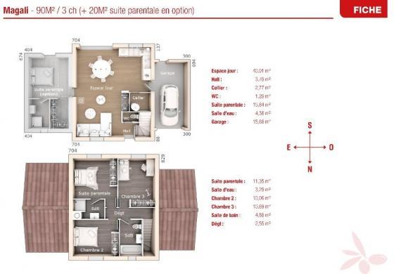 Maison+Terrain à vendre .(90 m²)(BONNIEUX) avec (MAISONS FRANCE CONFORT)