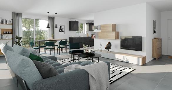 Maison+Terrain à vendre .(89 m²)(EVIN MALMAISON) avec (MAISONS FRANCE CONFORT)