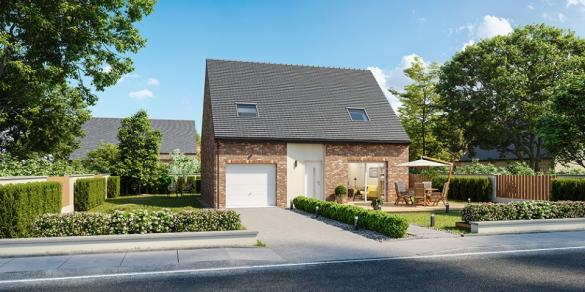 Maison+Terrain à vendre .(100 m²)(ESCAUDAIN) avec (MAISONS FRANCE CONFORT)