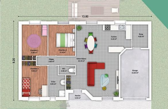 Maison à vendre .(80 m²)(TARTAS) avec (SIC HABITAT)