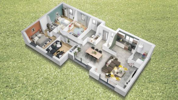 Maison à vendre .(108 m²)(MONT DE MARSAN) avec (SIC HABITAT)