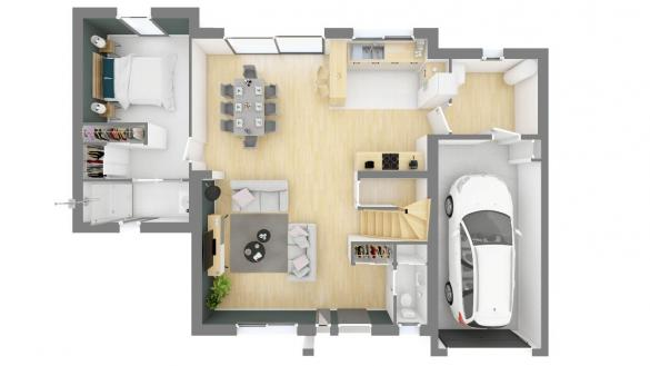 Maison+Terrain à vendre .(128 m²)(MAINCY) avec (MAISON FAMILIALE VILLE DU BOIS)
