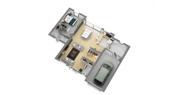 Maison+Terrain à vendre .(111 m²)(BEVILLE LE COMTE) avec (MAISON FAMILIALE VILLE DU BOIS)