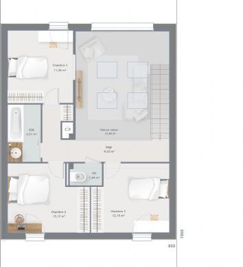Maison+Terrain à vendre .(122 m²)(SAINT REMY LES CHEVREUSE) avec (MAISONS BALENCY)