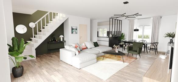 Maison+Terrain à vendre .(90 m²)(VAUX LE PENIL) avec (MAISONS FRANCE CONFORT)