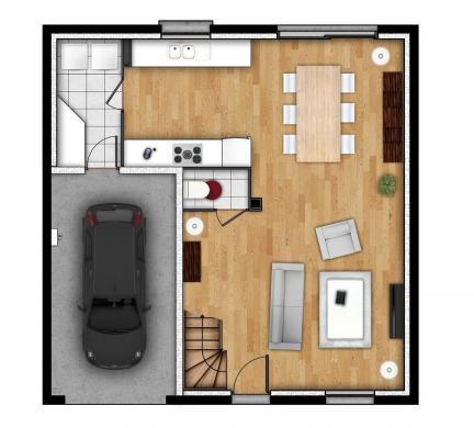 Maison+Terrain à vendre .(85 m²)(EU) avec (EXTRACO)