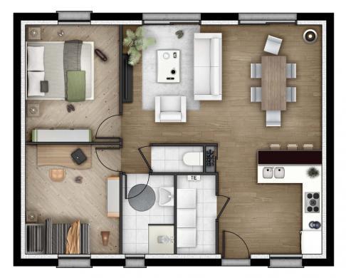 Maison+Terrain à vendre .(65 m²)(OFFRANVILLE) avec (MAISONS EXTRACO - Agence de DIEPPE)
