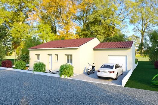 Maison+Terrain à vendre .(85 m²)(CHATUZANGE LE GOUBET) avec (MAISONS ARLOGIS VALENCE)