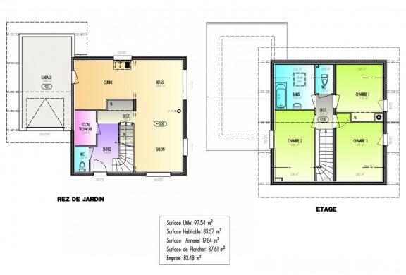 Maison+Terrain à vendre .(83 m²)(SALLANCHES) avec (ARTIS)