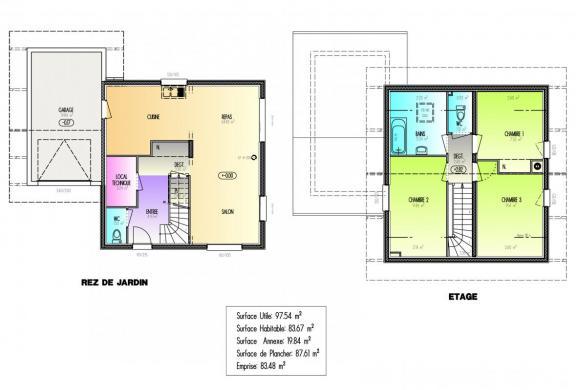 Maison+Terrain à vendre .(83 m²)(SEYTROUX) avec (ARTIS)