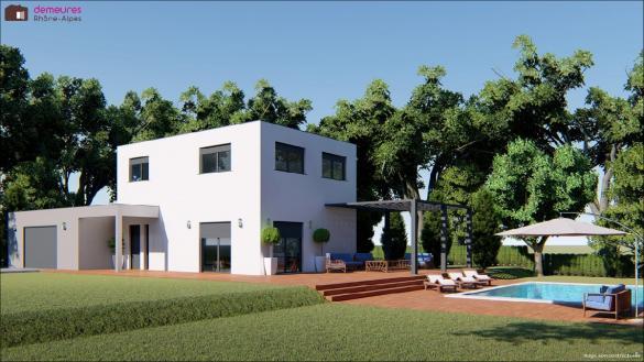 Maison à vendre .(130 m²)(LEAZ) avec (DEMEURES RHONE ALPES)