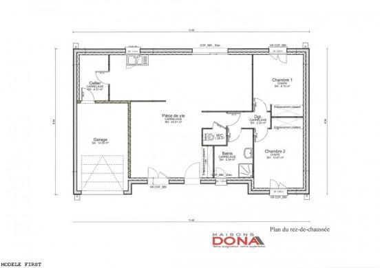 Maison à vendre .(76 m²)(NOUZILLY) avec (EURO-DAREL)