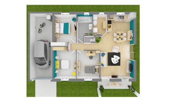 Maison+Terrain à vendre .(80 m²)(CHABOTTES) avec (MAISONS FRANCE CONFORT)
