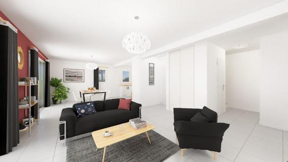 Maison+Terrain à vendre .(104 m²)(SAINT ETIENNE LE LAUS) avec (MAISONS FRANCE CONFORT)