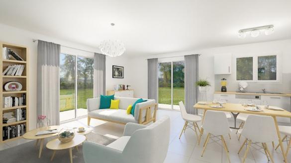 Maison+Terrain à vendre .(90 m²)(SAINT ETIENNE LE LAUS) avec (MAISONS FRANCE CONFORT)