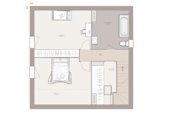 Maison+Terrain à vendre .(80 m²)(SAINT BONNET EN CHAMPSAUR) avec (MAISONS FRANCE CONFORT)