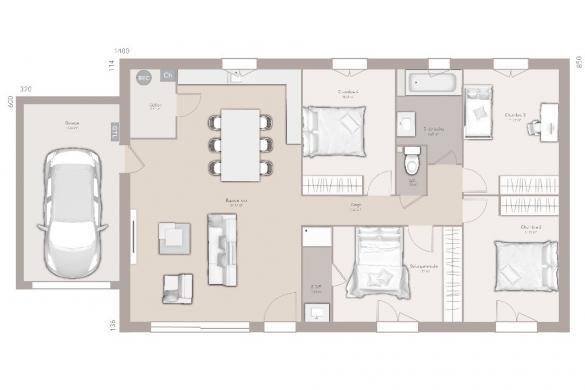 Maison+Terrain à vendre .(100 m²)(LA FARE EN CHAMPSAUR) avec (MAISONS FRANCE CONFORT)