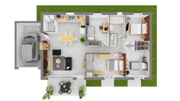 Maison+Terrain à vendre .(100 m²)(SAINT BONNET EN CHAMPSAUR) avec (MAISONS FRANCE CONFORT)
