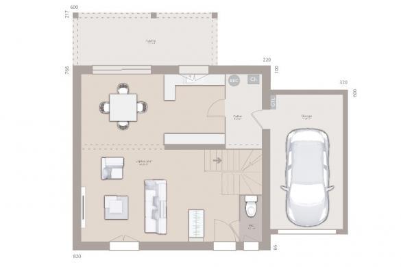 Maison+Terrain à vendre .(95 m²)(CHORGES) avec (MAISONS FRANCE CONFORT)