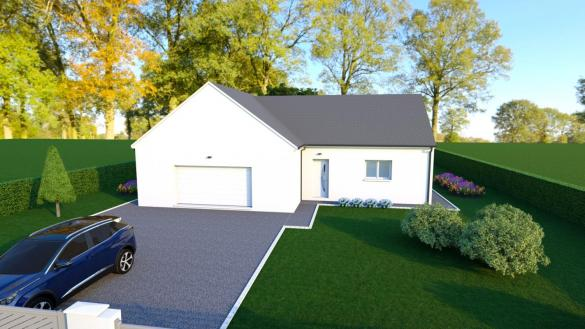 Maison+Terrain à vendre .(110 m²)(LA CHAPELLE SAINT URSIN) avec (MAISONS DONA)