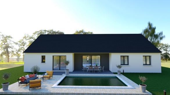 Maison+Terrain à vendre .(90 m²)(LA CHAPELLE SAINT URSIN) avec (MAISONS DONA)