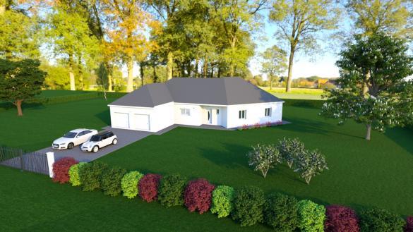 Maison+Terrain à vendre .(114 m²)(LA CHAPELLE SAINT URSIN) avec (MAISONS DONA)