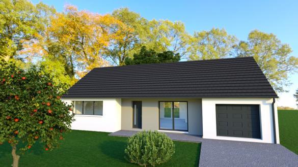 Maison+Terrain à vendre .(97 m²)(LA CHAPELLE SAINT URSIN) avec (MAISONS DONA)