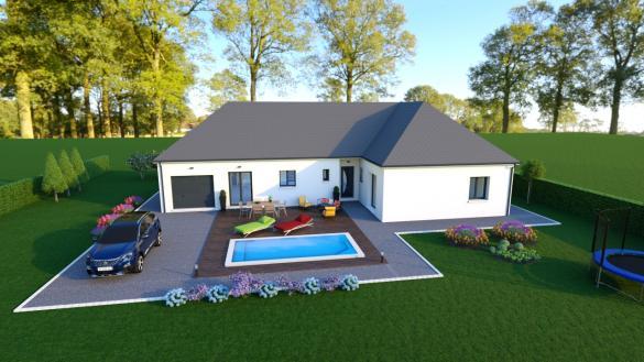 Maison+Terrain à vendre .(100 m²)(LA CHAPELLE SAINT URSIN) avec (MAISONS DONA)