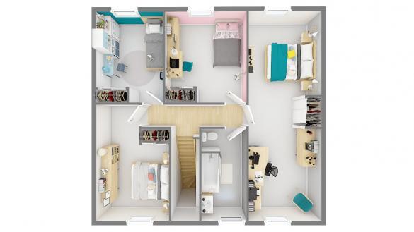 Maison+Terrain à vendre .(120 m²)(D'HUISON LONGUEVILLE) avec (MAISONS PHENIX)