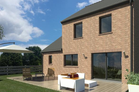Maison+Terrain à vendre .(100 m²)(DARVAULT) avec (MAISON FAMILIALE)
