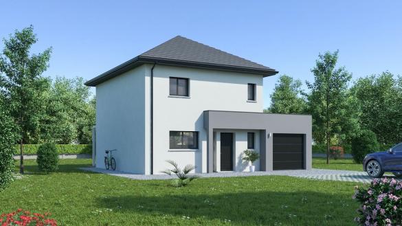 Maison+Terrain à vendre .(108 m²)(ESTREES SAINT DENIS) avec (MAISON FAMILIALE)