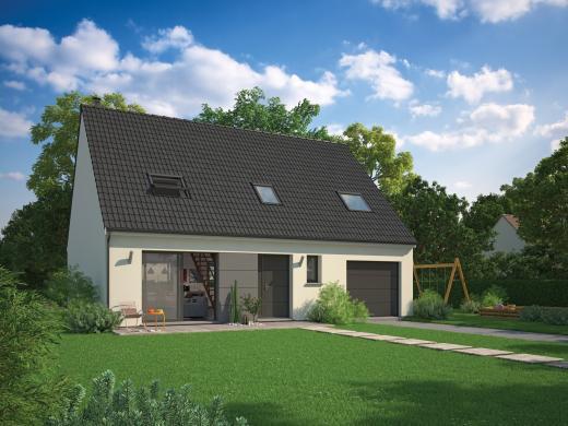 Maison+Terrain à vendre .(100 m²)(BELLOY EN FRANCE) avec (MAISON FAMILIALE)