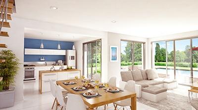 Maison+Terrain à vendre .(92 m²)(SAINT ORENS DE GAMEVILLE) avec (Maison Familiale Toulouse)