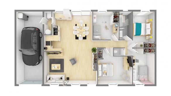 Maison+Terrain à vendre .(99 m²)(CABARIOT) avec (Maisons PHENIX Rochefort)
