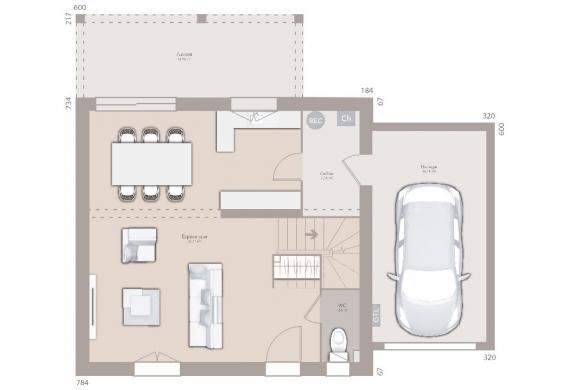 Maison+Terrain à vendre .(85 m²)(LENT) avec (MAISONS FRANCE CONFORT)