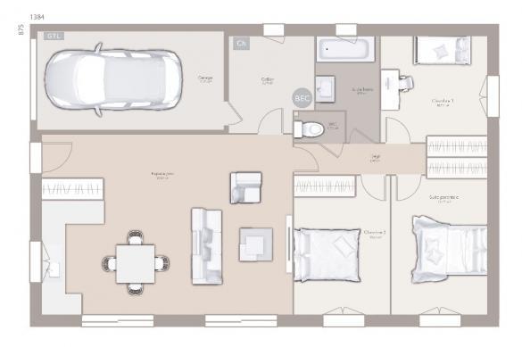 Maison+Terrain à vendre .(90 m²)(BOURG EN BRESSE) avec (MAISONS FRANCE CONFORT)