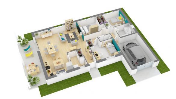Maison+Terrain à vendre .(90 m²)(SIMANDRE SUR SURAN) avec (MAISONS FRANCE CONFORT)