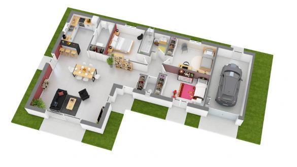 Maison+Terrain à vendre .(95 m²)(SAINT CYR SUR MENTHON) avec (MAISONS FRANCE CONFORT)