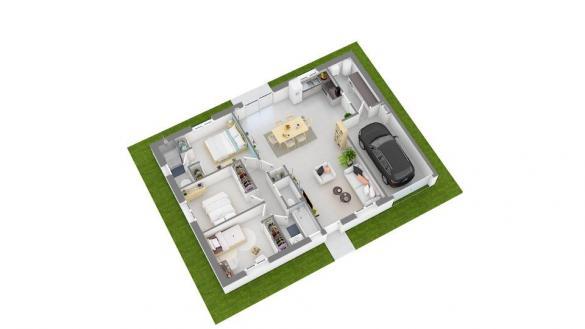 Maison+Terrain à vendre .(84 m²)(SAINT CYR SUR MENTHON) avec (MAISONS FRANCE CONFORT)