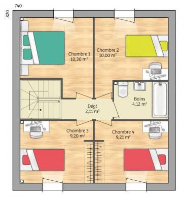 Maison+Terrain à vendre .(91 m²)(GAZERAN) avec (MAISONS FRANCE CONFORT)
