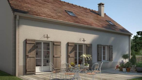 Maison+Terrain à vendre .(90 m²)(SANTEUIL) avec (MAISONS FRANCE CONFORT)