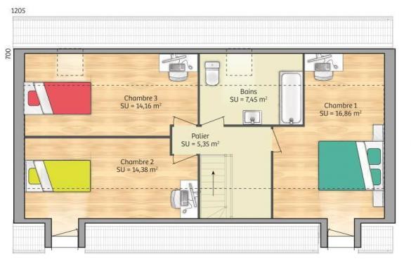 Maison+Terrain à vendre .(90 m²)(HARAVILLIERS) avec (MAISONS FRANCE CONFORT)