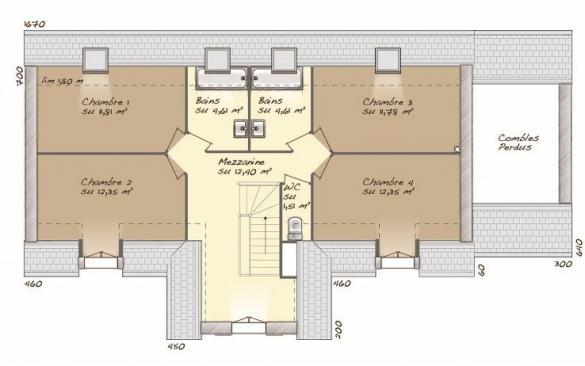 Maison+Terrain à vendre .(145 m²)(VERNON) avec (MAISONS BALENCY)