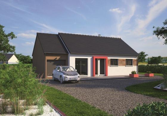 Maison+Terrain à vendre .(80 m²)(JUMIEGES) avec (MAISONS BALENCY)